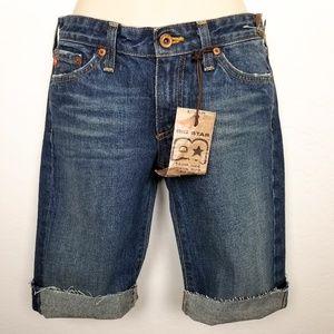 Big Star Raw Hem Bermuda Jean Shorts